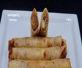 Chicken and Cheese Spring Rolls
